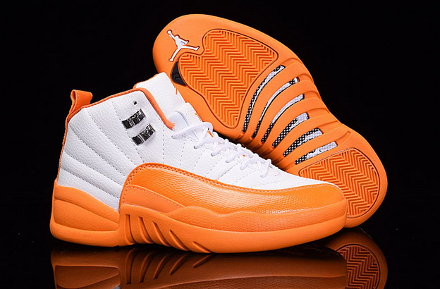Womens Jordan 12 Retro Shoes Yellow/White